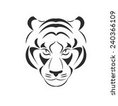predator head. tiger. line...   Shutterstock .eps vector #240366109