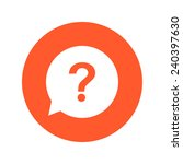 question mark sign icon. help... | Shutterstock .eps vector #240397630