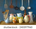 collection of vintage... | Shutterstock . vector #240397960