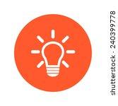 light lamp sign icon. idea... | Shutterstock .eps vector #240399778