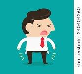 businessman would be bankrupt ... | Shutterstock .eps vector #240404260
