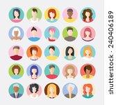 big set of avatars profile...   Shutterstock .eps vector #240406189
