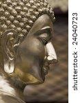 head of a golden buddha in a... | Shutterstock . vector #24040723