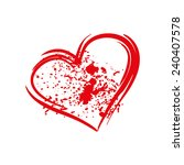 white background red heart... | Shutterstock .eps vector #240407578