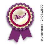 violet ribbon rosette wit text... | Shutterstock .eps vector #240412870