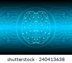 brain circuit abstract... | Shutterstock .eps vector #240413638