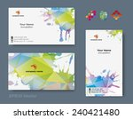 set of business cards for your...   Shutterstock .eps vector #240421480