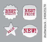 promotion sale labels | Shutterstock .eps vector #240425170