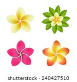 set of icons with tropical... | Shutterstock .eps vector #240427510