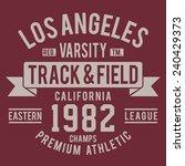athletic california sport... | Shutterstock .eps vector #240429373