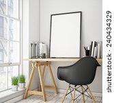 3d illustration of poster frame ... | Shutterstock . vector #240434329