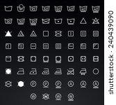 icon set of laundry  washing... | Shutterstock .eps vector #240439090