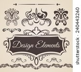 design elements and page... | Shutterstock .eps vector #240443260