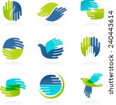 Collection Of Hands Icons And...