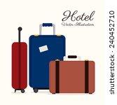 hotel design over white... | Shutterstock .eps vector #240452710