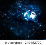 best internet concept of global ... | Shutterstock . vector #240452770
