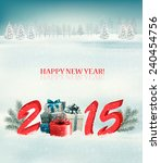 holiday background with snow ... | Shutterstock .eps vector #240454756