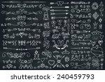 doodles border arrow brushes... | Shutterstock .eps vector #240459793