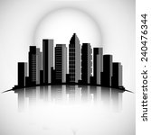 city skyline silhouette with... | Shutterstock .eps vector #240476344