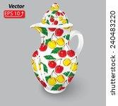 decorative cherry pattern ... | Shutterstock .eps vector #240483220