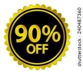 sale sticker on white...   Shutterstock .eps vector #240487360