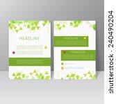 vector brochure template design ... | Shutterstock .eps vector #240490204