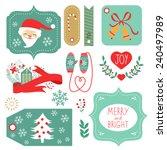 gift tags and christmas graphic ... | Shutterstock .eps vector #240497989