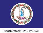 state of virginia flag | Shutterstock .eps vector #240498763