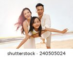 family on beach | Shutterstock . vector #240505024