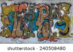 beautiful street art graffiti.... | Shutterstock . vector #240508480