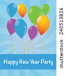 balloon new year  balloon... | Shutterstock .eps vector #240513826