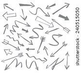set of grey vector arrows | Shutterstock .eps vector #240515050