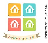 house icon. home sign | Shutterstock .eps vector #240515533