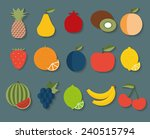 fruit flat icon. the image of... | Shutterstock .eps vector #240515794