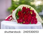 Stock photo a bouquet of flowers bouquet of a hundred red roses 240530053