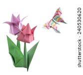 Colorful Origami Tulips And...
