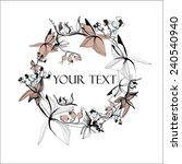 vector calligraphic flowers... | Shutterstock .eps vector #240540940