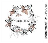 vector calligraphic flowers... | Shutterstock .eps vector #240540940