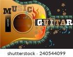 guitar art | Shutterstock . vector #240544099