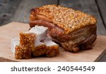 oriental roast pork belly on... | Shutterstock . vector #240544549
