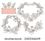 set of decorative elements.... | Shutterstock .eps vector #240546649