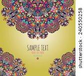 vector ornamental background... | Shutterstock .eps vector #240550258