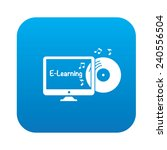 e learning symbol design on... | Shutterstock .eps vector #240556504