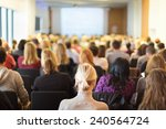 business conference and... | Shutterstock . vector #240564724