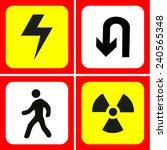 danger and warning icons set... | Shutterstock .eps vector #240565348