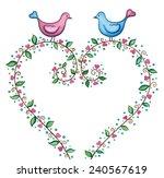 love background. cute birds...   Shutterstock . vector #240567619