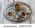 Traditional Turkish Coffee In...
