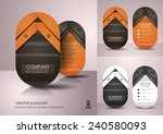 vertical business card design | Shutterstock .eps vector #240580093