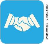 partnership  icon  flat design   Shutterstock .eps vector #240585580