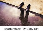 shadow of person  | Shutterstock . vector #240587134